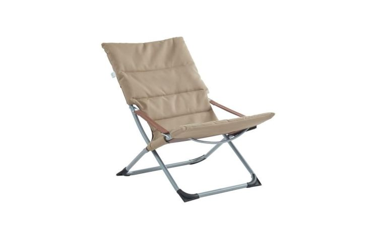 COMINO - Chilienne matelassée pliable - Taupe - Dossier inclinable / France - enchère finie
