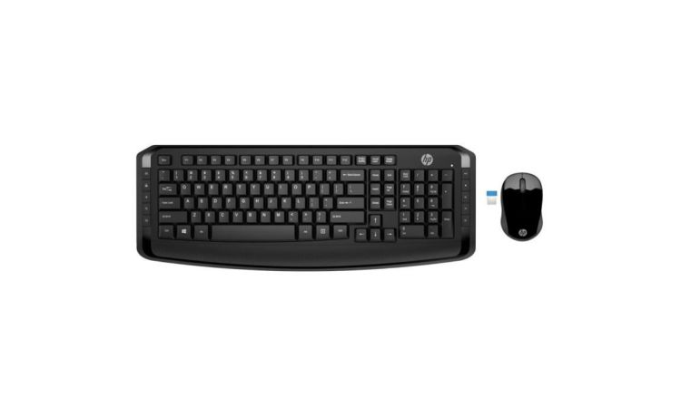 HP - 3ML04AA - Ensemble clavier + souris d'ordinateur - WiFi 300 - Noir / France
