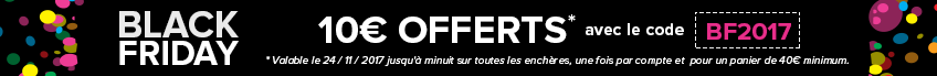 Black friday 10€ offerts avec le code BF2017