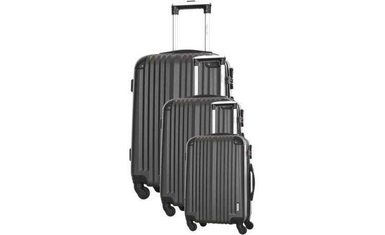 Set 3 Valises TRAVEL ONE 4 roues 50/60/70 cm ABS LANGFORD - Gris / France