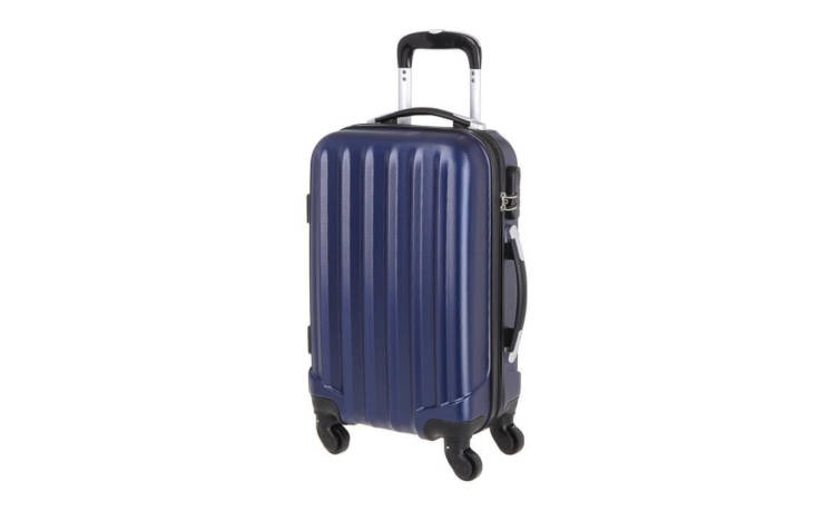 Valise cabine ABS bleue 4 Roues 50 x 35 x 20 cm / France