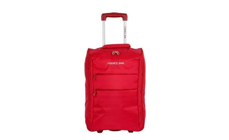 Valise Cabine FRANCE BAG Low Cost Souple 2 Roues 34cm rouge / France
